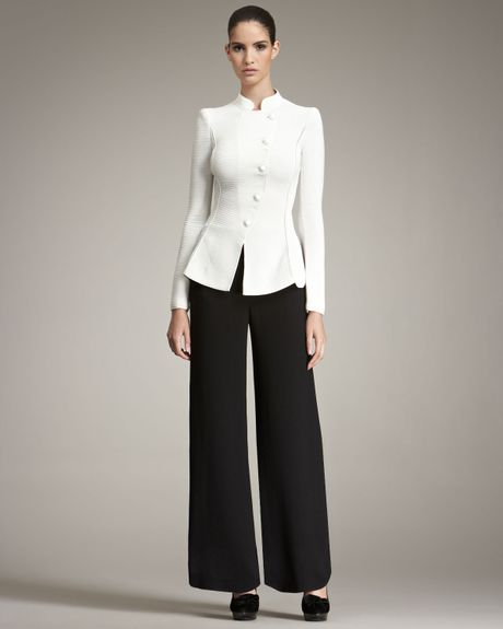 Giorgio Armani Frontpanel Pants in Black - Lyst