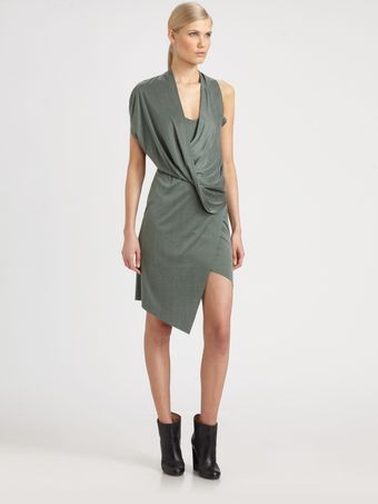 Helmut Lang Shale Jersey Dress - Lyst