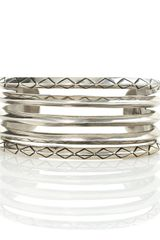 House Of Harlow Stacking Bangles Set Of Five - Lyst