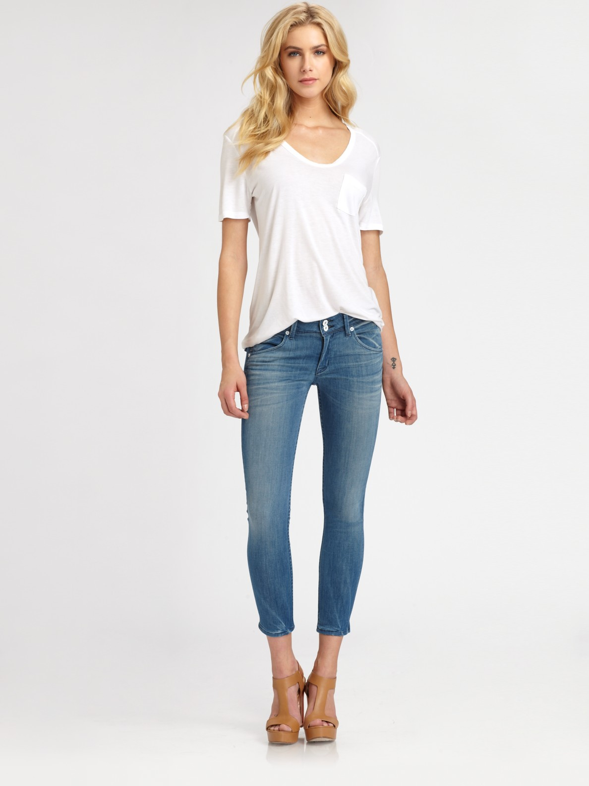 Hannah - Skinny Slim Crop Jeans - Addicting Wash. Hannah, our best-selling jean body, is a low rise cropped skinny with a magic inseam graded to create the perfect skinny for petite figures, while also creating a flattering crop for taller women.