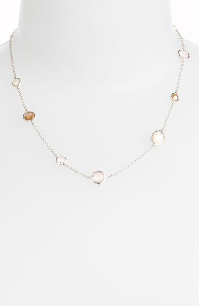 Ippolita Candy Wonderland Stone Station Chain Necklace in Silver (silver/ candy) - Lyst