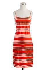 J.crew Blouson Dress in Stripe in Red (cerise) - Lyst