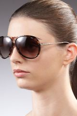 Jimmy Choo Terrence Aviator Sunglasses Havana - Lyst