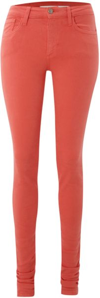 Joe's Jeans The Skinny Coloured Jeans in Pink (peach) - Lyst