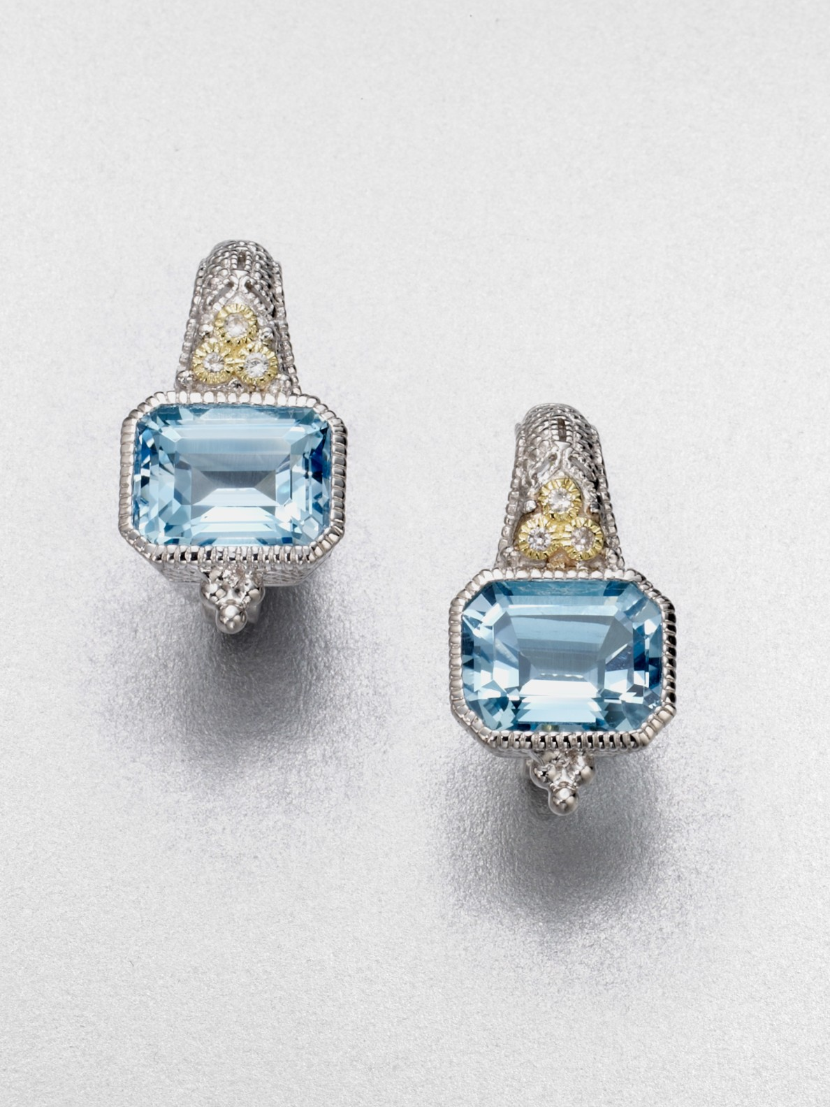 Judith ripka white sapphire accented blue topaz estate for Sapphire studios jewelry reviews