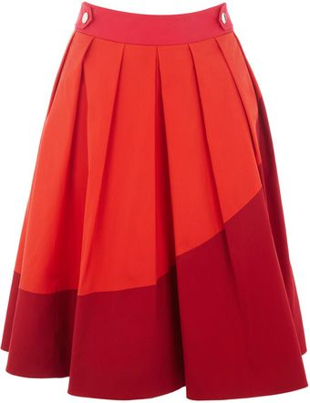 Karen Millen Colour Contrast Collection Skirt - Lyst