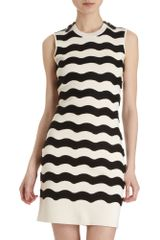 Kenzo Wavy Stripe Knit Sweater Dress - Lyst