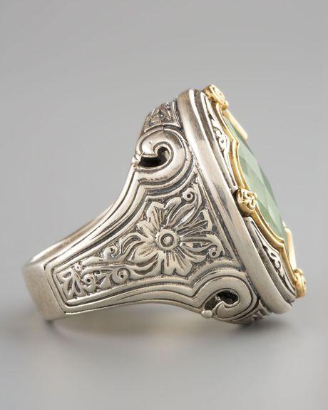 Konstantino Green Amethyst Clover Ring In Silver 7 Lyst