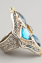 Konstantino London Blue Topaz Figure8 Ring - Lyst