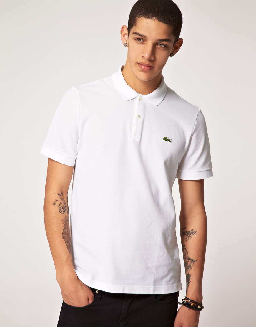 Lyst lacoste l ive lacoste live slim fit polo shirt in Man in polo shirt