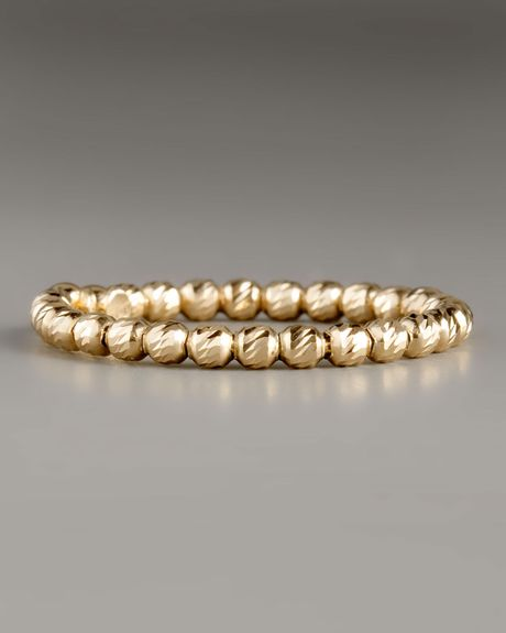 Lana Olivia Bead Ring Yellow Gold in Yellow - Lyst