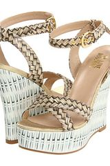 Love Moschino Wedge Sandal  - Lyst