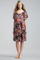 Melissa Masse Printed Tiewaist Dress Womens - Lyst