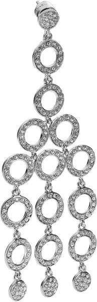 Michael Kors Chandelier Earring with Pave Detail in Silver - Lyst