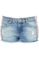 Moto Moto High Waisted Hotpants - Lyst