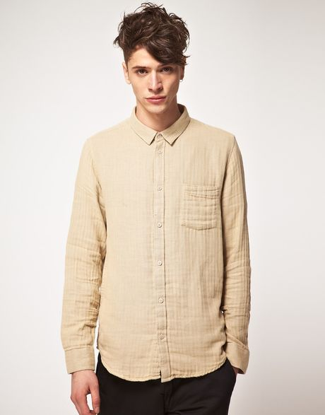 Cheap Monday Cheap Monday Loose Pocket Shirt in Beige for Men - Lyst