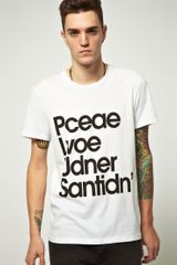 Cheap Monday Cheap Monday Bruce Peace Love Tshirt - Lyst