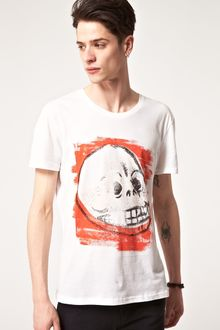 Cheap Monday Cheap Monday Chalk Skull Tshirt - Lyst