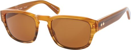 Paul smith berling wayfarer sunglasses in brown for men for Wayfare berlin