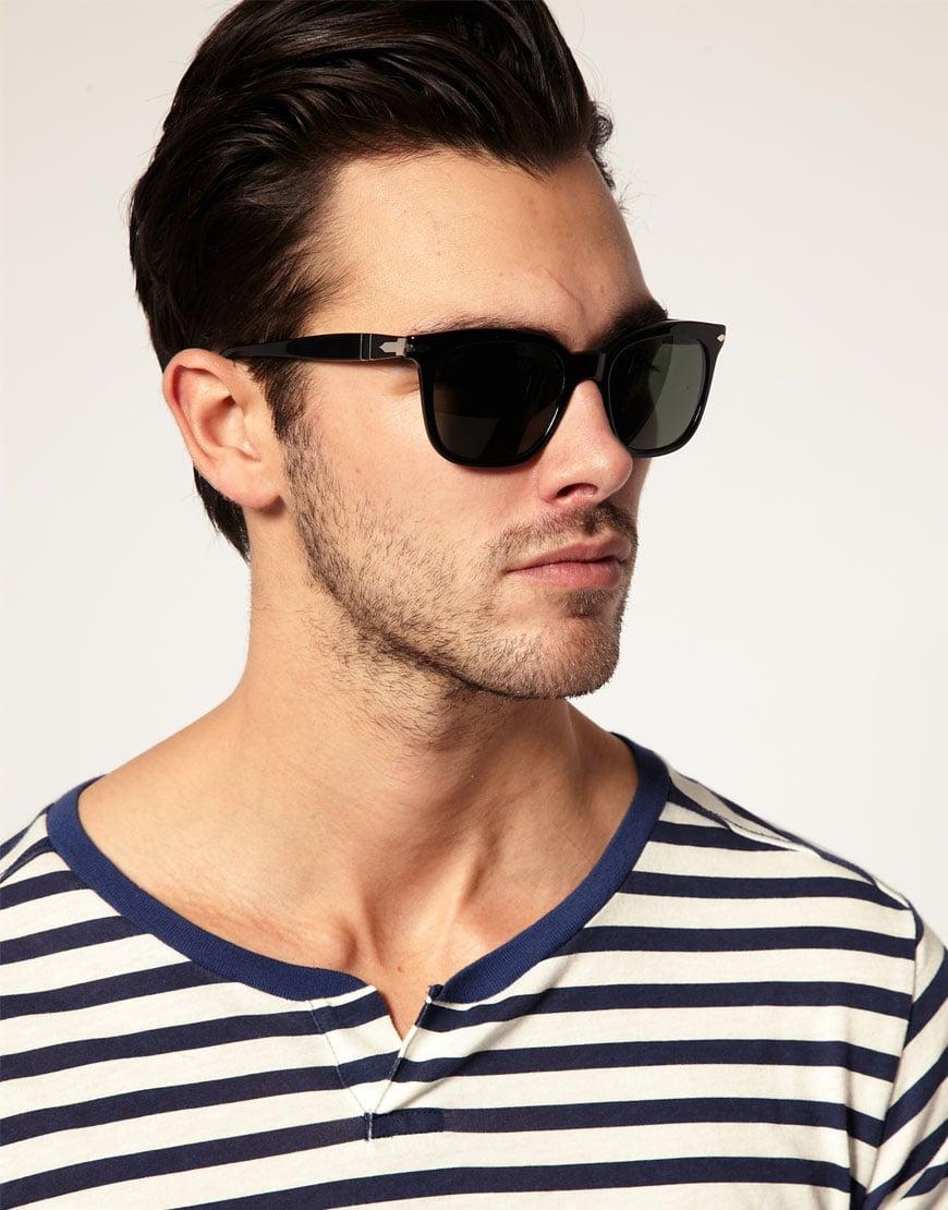 Lyst Persol Persol Wayfarer Sunglasses In Black For Men