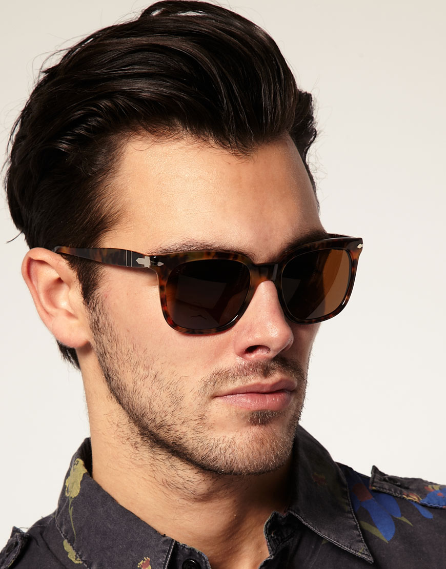 Persol Wayfarer Sunglasses In Brown For Men Lyst