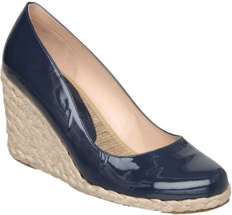 Pied A Terre Annato Espadrille Court Shoes In Blue Navy