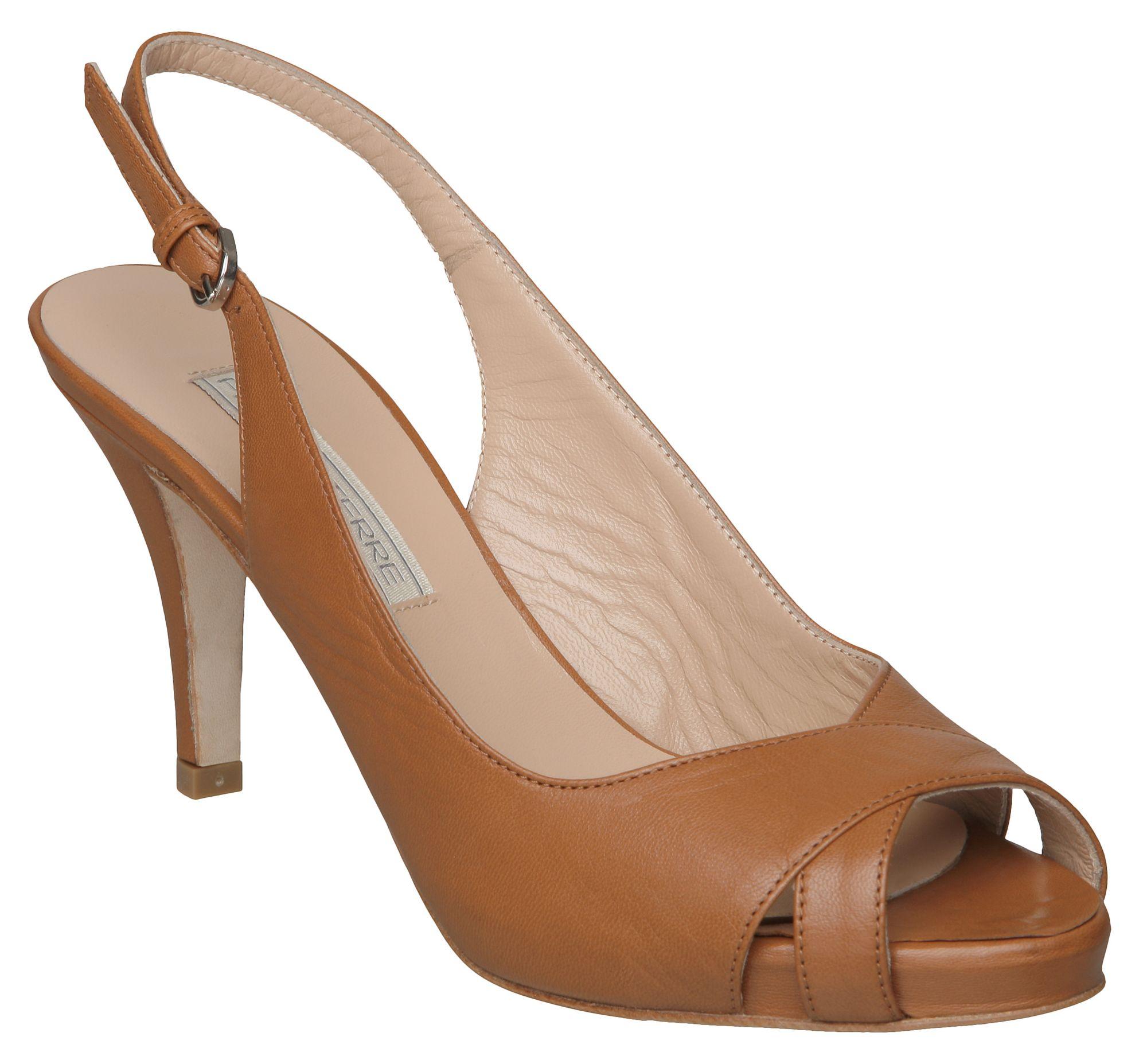 Pied A Terre Jae Cross Vamp Sandals In Brown Tan Lyst