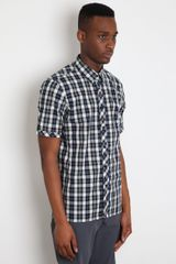 Raf Simons Raf Simons Mens Check Short Sleeve Shirt in Black for Men - Lyst
