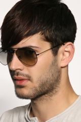 Ray-ban Rayban Aviator Sunglasses in Brown for Men (black) - Lyst