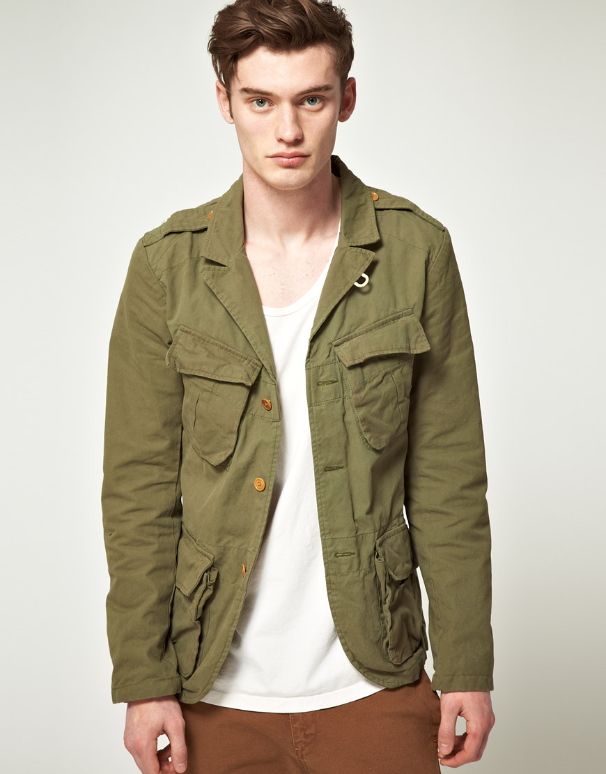 lyst scotch soda scotch soda field jacket in green for men. Black Bedroom Furniture Sets. Home Design Ideas