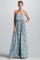 Shoshanna Madison Printed Maxi Dress - Lyst