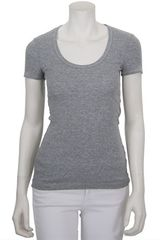 Splendid 1 X1 Scoop Neck Tee in Gray (grey) - Lyst