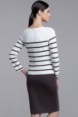 St. John Collection Milano Striped-top Knit Dress - Lyst