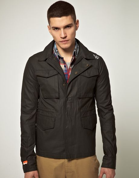 Superdry Superdry Classic Waxman Jacket in Black for Men (waxblack) - Lyst