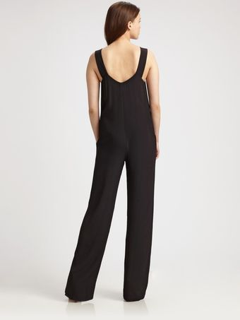T By Alexander Wang Scoopneck Jumpsuit - Lyst
