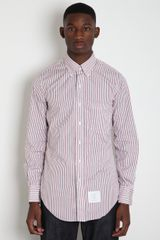Thom Browne Stripe Shirt - Lyst