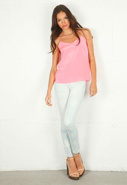 Tibi Silk CDC Cami Top in Pink - Lyst