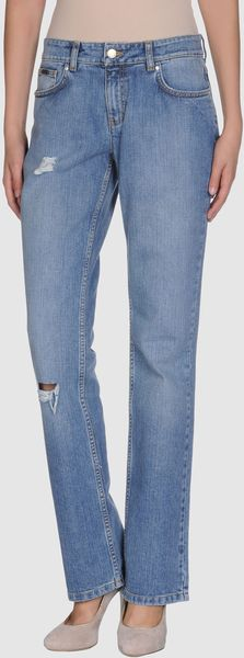 Tommy Hilfiger Denim Trousers in Blue - Lyst