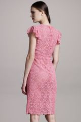 Valentino Lace Sheath Dress - Lyst