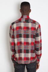 Ymc Ymc Mens Patchwork Shirt in Gray for Men (red) - Lyst