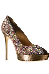 Jimmy Choo Crown Glitter Platform Pump - Lyst