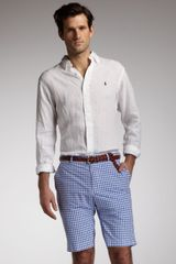 Polo Ralph Lauren Gingham Shorts - Lyst