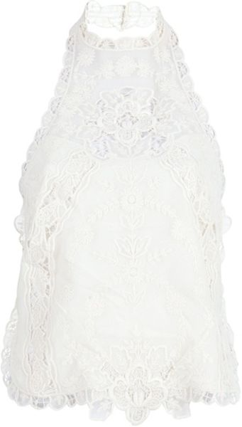 Ralph Lauren Embroidered Vest Top in White (nude)