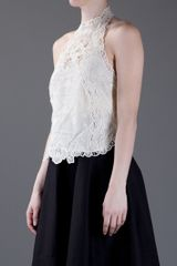 Ralph Lauren Embroidered Vest Top in White (nude) - Lyst