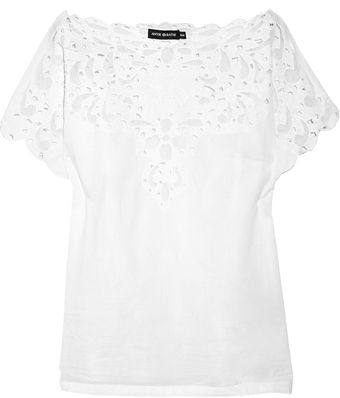 Antik Batik Naya Cutout Floral Lace Cotton Top - Lyst