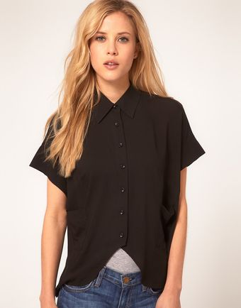 ASOS Collection Asos Shirt with Cutaway Front - Lyst