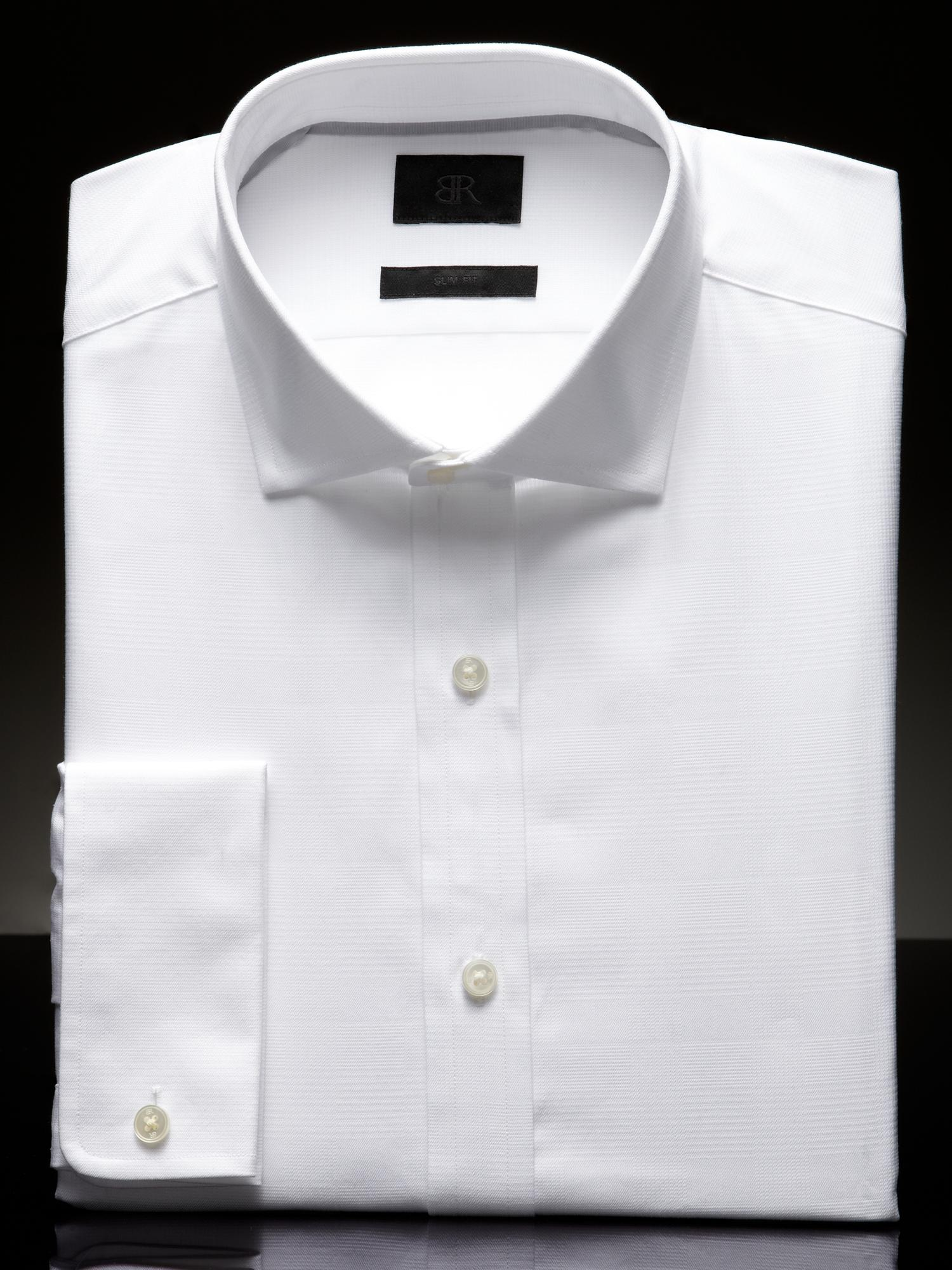 Banana republic br monogram slim fit french cuff shirt in White french cuff shirt slim fit
