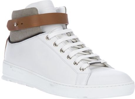 Dior Leather Hitop in White for Men - Lyst
