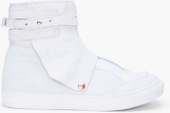 Fifth Avenue Shoe Repair White Shackle Sneaker - Lyst