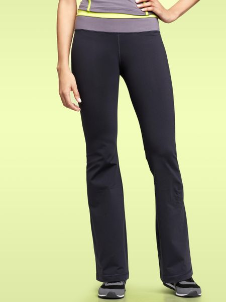 Gap Gapfit Gflex Colorblock Waist Pants in Blue (dark navy) - Lyst